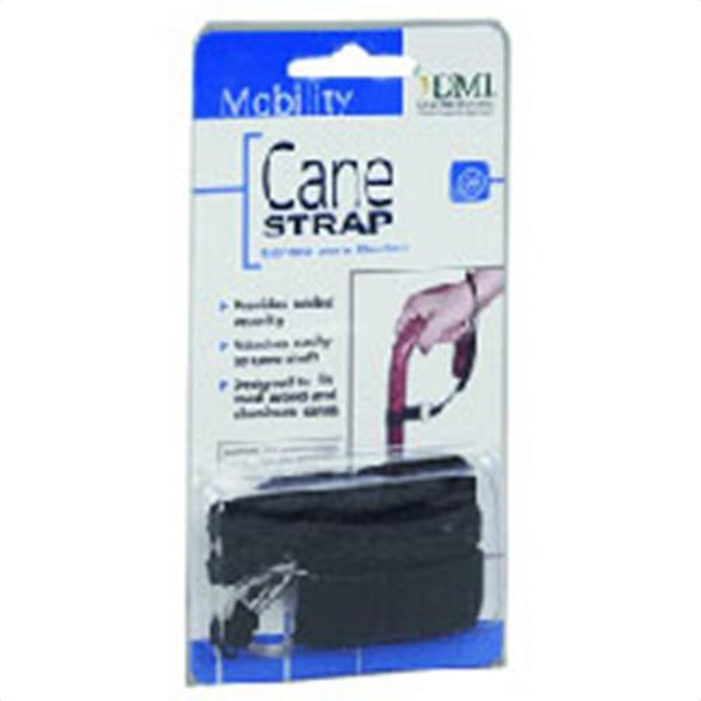 "Duro-Med Cane Strap, 9"" Black 1  ea (Pack of 6)"
