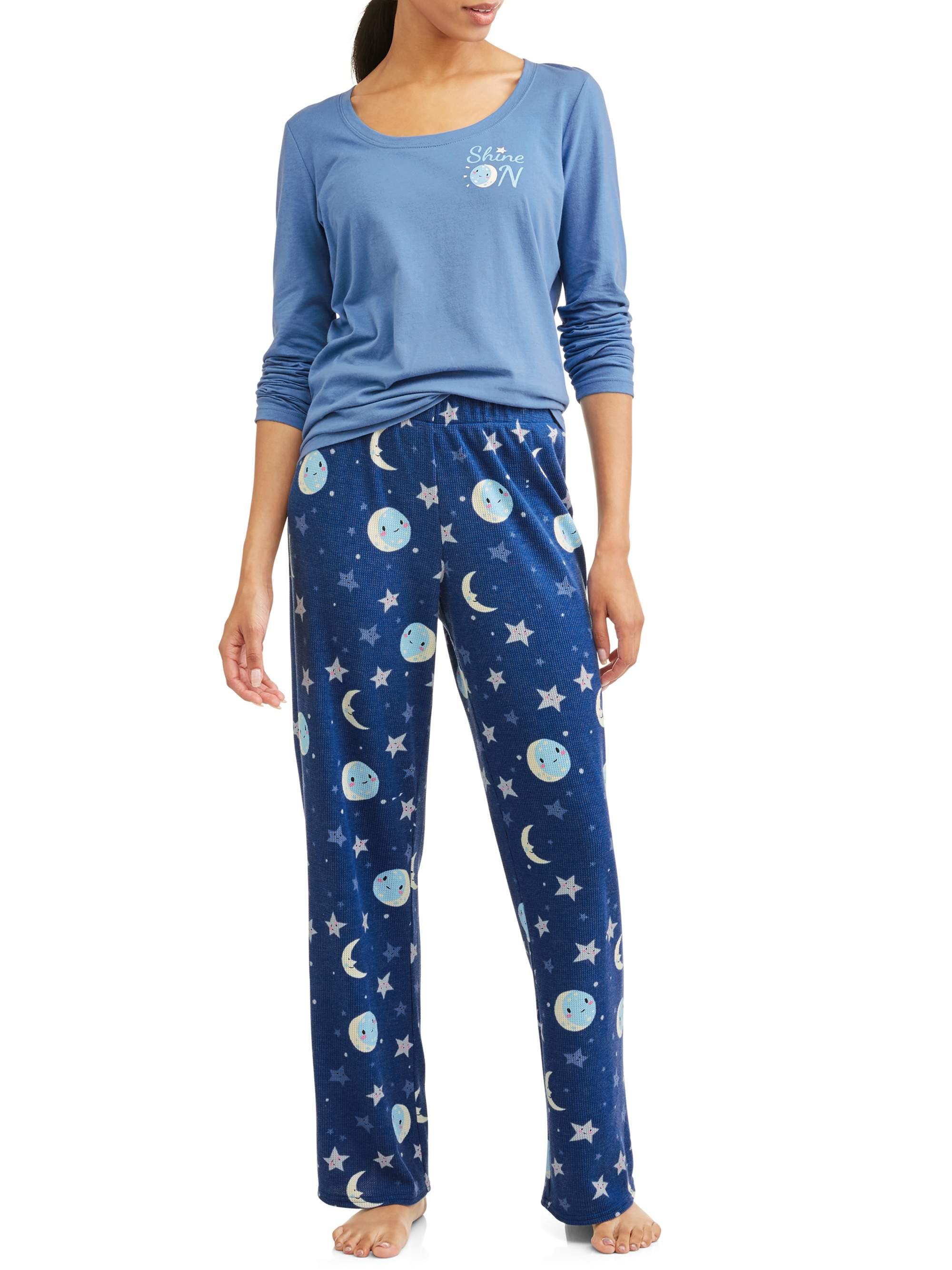 Toast & Jammies Women's and Women's plus 2 piece long sleeve top and thermal pant sleep set