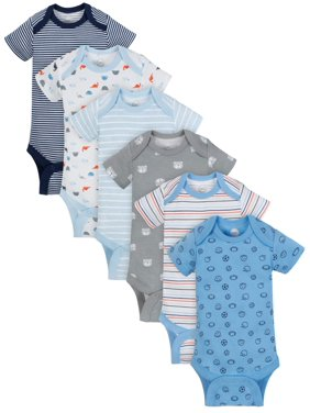 81833f741 Product Image Short Sleeve Bodysuits, 6-pack (Baby Boys)