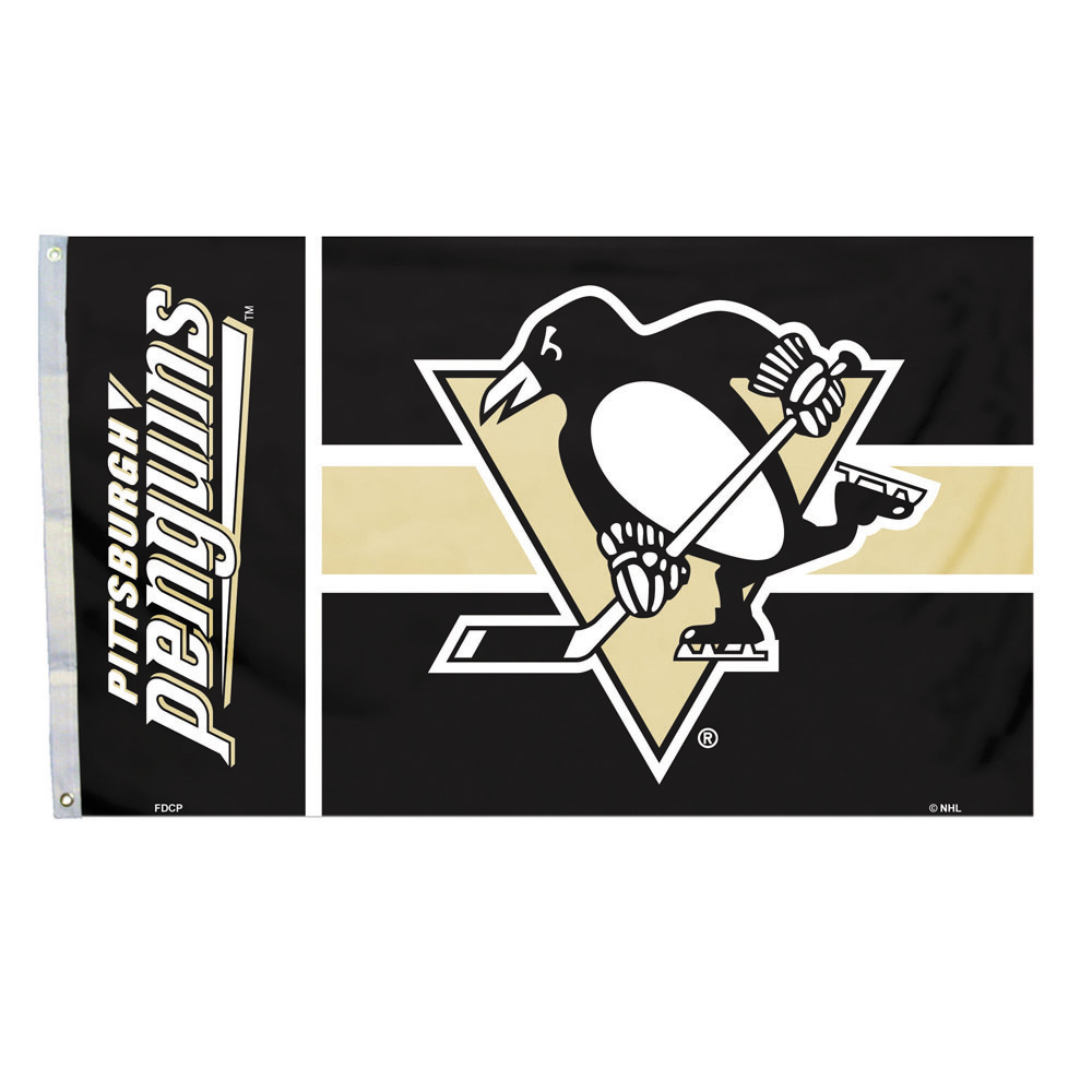 NHL Pittsburgh Penguins Flag with Grommets, 3' x 5'