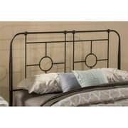 Hawthorne Collections Twin Metal Headboard in Black Sparkle