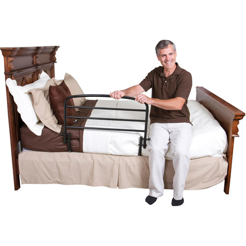 "Stander 30"" Home Safety Bed Rail + Swing Down Assist Handle with Included Safety Strap"