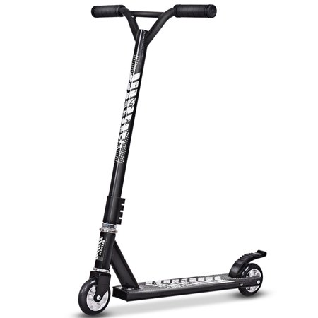 Gymax Black Lightweight Aluminum Freestyle Kick Scooter 2 Wheels Adults Teenagers (Scooter Wizard Lights)