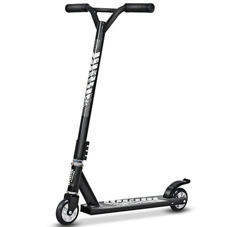 Gymax Black Lightweight Aluminum Freestyle Kick Scooter 2 Wheels Adults Teenagers