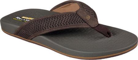 skechers relaxed fit memory foam sandals