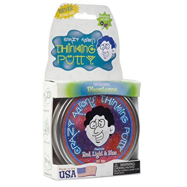 "Crazy Aaron's Red, Light and Blue Thinking Putty 4"" tin"