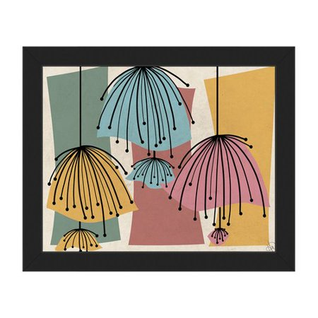 Click Wall Art Lazy Lamps Framed Graphic Art on Canvas