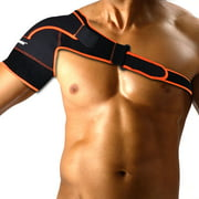 WALFRONT Shoulder Support Brace for Men & Women, Adjustable Neoprene Shoulder Brace Strap Wrap Belt for Rotator Cuff, Injury Prevention, Dislocated AC Joint, Frozen Shoulder Pain, Sprain, Soreness