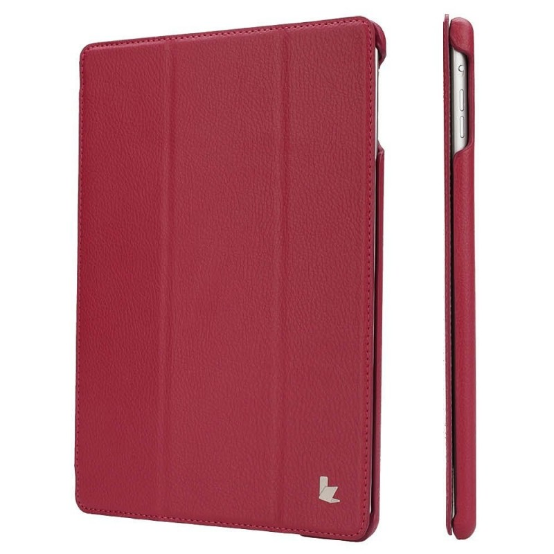 Jisoncase JS-ID5-09T34 Classic PU Leatherette Smart Cover Case for iPad Air 1, Magenta
