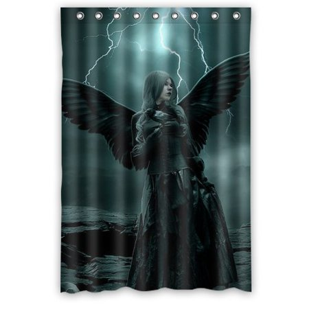 DEYOU Superhero Shower Curtain Polyester Fabric Bathroom Size 48x72 Inches