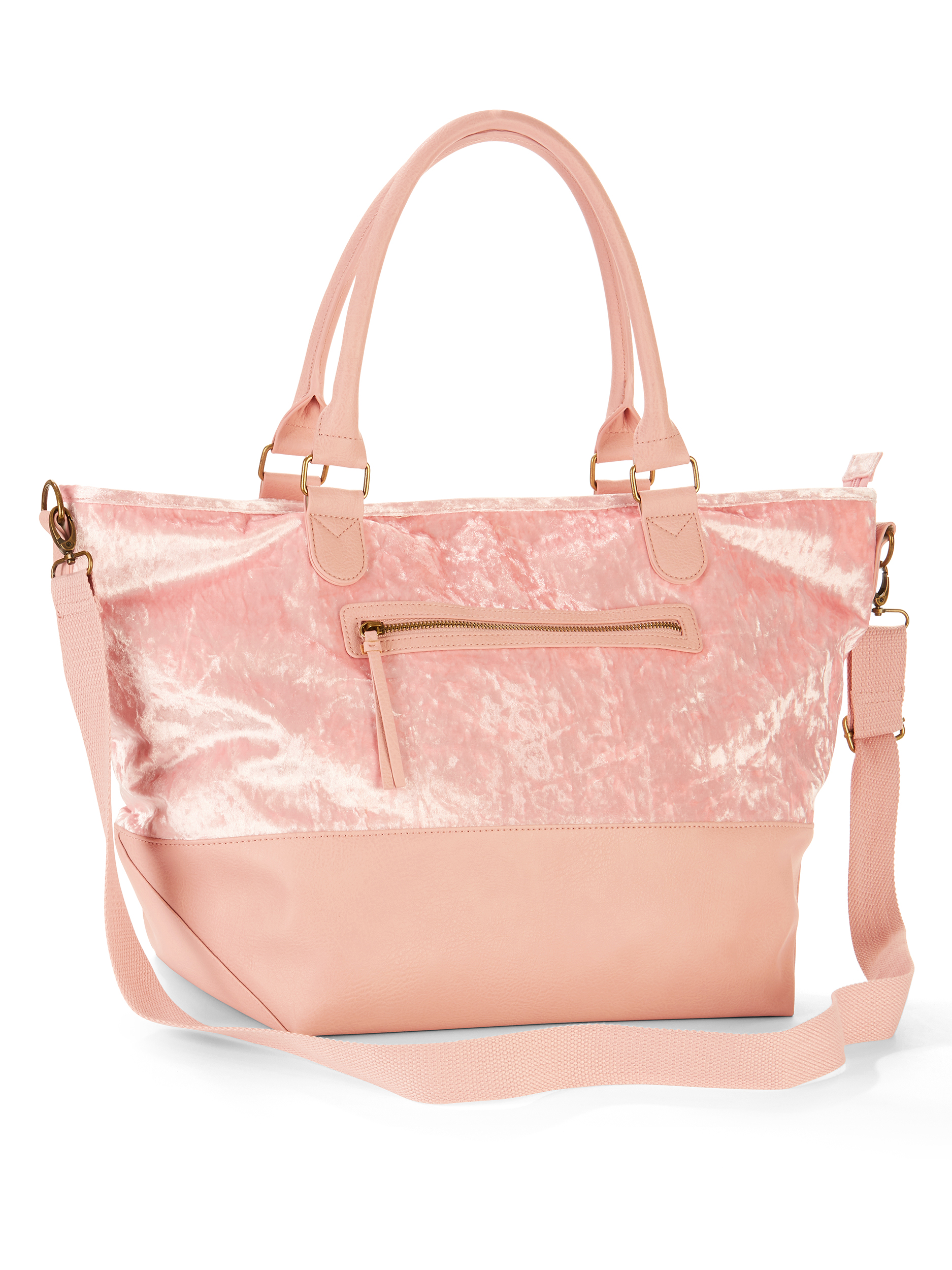 No Boundaries Blush Crushed Velvet Weekender