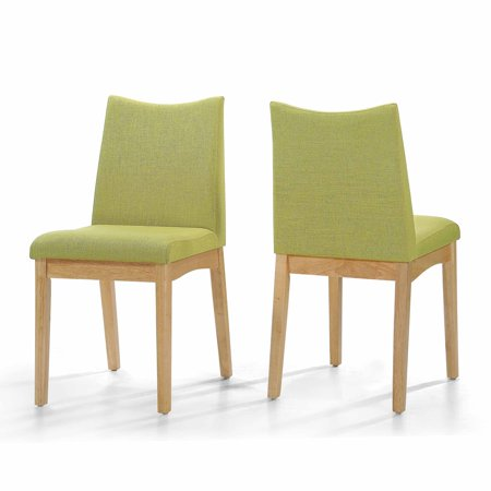 Enjoyable Gertrude Fabric And Wood Dining Chairs Set Of 2 Green Tea Oak Finish Ibusinesslaw Wood Chair Design Ideas Ibusinesslaworg