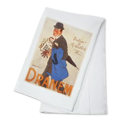 Dranem - Entree des Artistes Vintage Poster (artist: Barrere) France c. 1905 (100% Cotton Kitchen Towel) - Halloween Entree Dishes