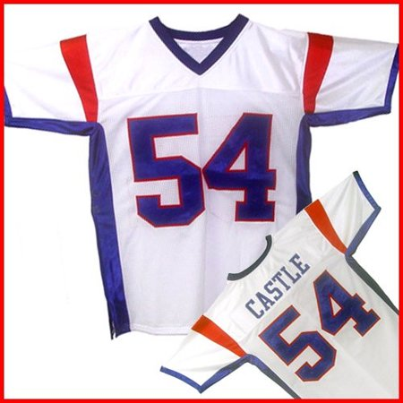 Thad Castle #54 Mountain Goats Football Jersey Blue State Uniform Costume White