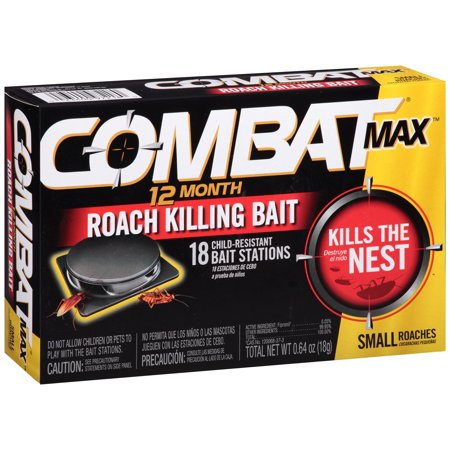 - Combat Max Small Roaches 12 Month Roach Killing Bait Stations 18 ct Box