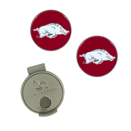 Arkansas Razorbacks Hat Clip & Ball Markers Set - No