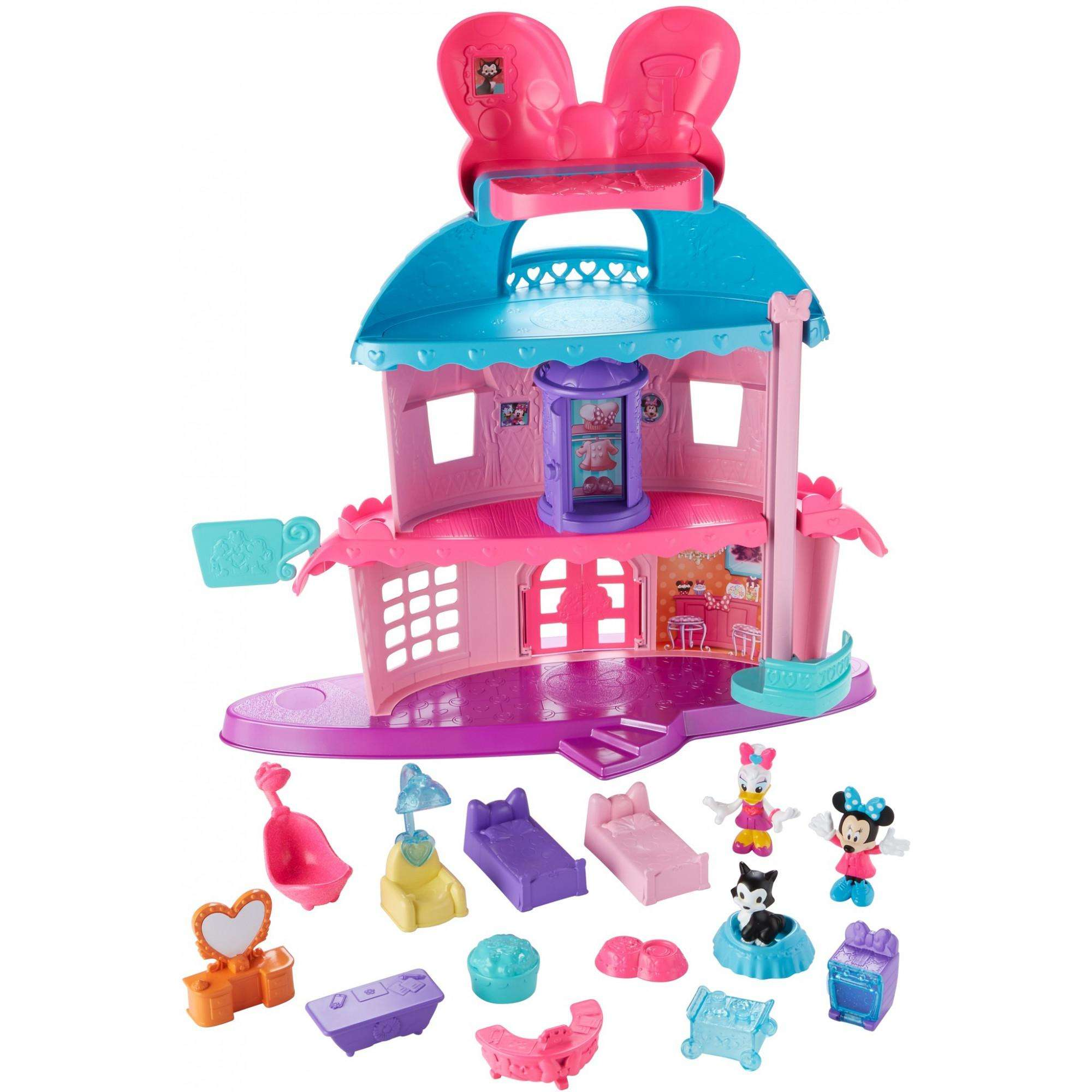 Fisher Price Disney Junior Minnie Home Sweet Headquarters Large Play House New