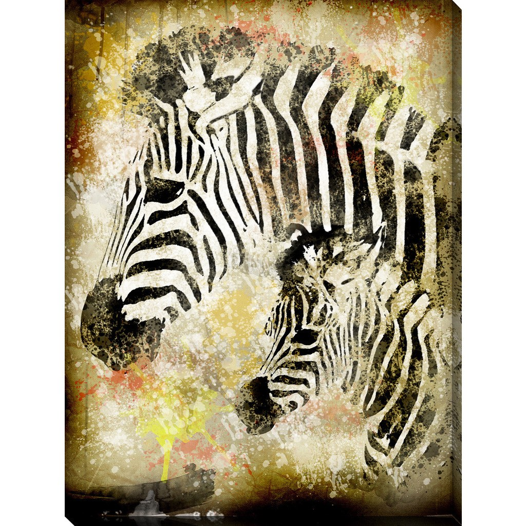 "Picture Perfect International ""Zebras"" Giclee Print Canvas Wall Art"