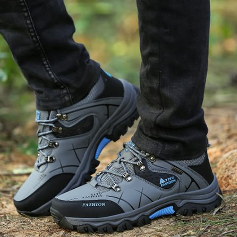 Gray Yt585170 Outdoor Lace-Up Hiking Boots Sport Men'S Shoes For Camping Climbing Mountain... by