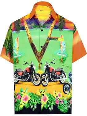 5179ab856725a8 Product Image LA LEELA Men s Beach button down Hawaiian Men s Front Pocket  Aloha Hawaiian Tropical ShirtOrange W553