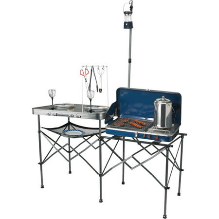 Ozark Trail Deluxe Portable Camp Kitchen Table And Grill
