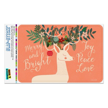 Christmas Deer Merry Bright Joy Peace Love Home Business Office Sign ()