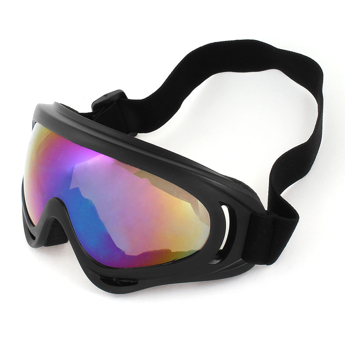 Woman Man Elastic Head Band Colorful Lens Ski Skate Sports Goggles Sunglasses by