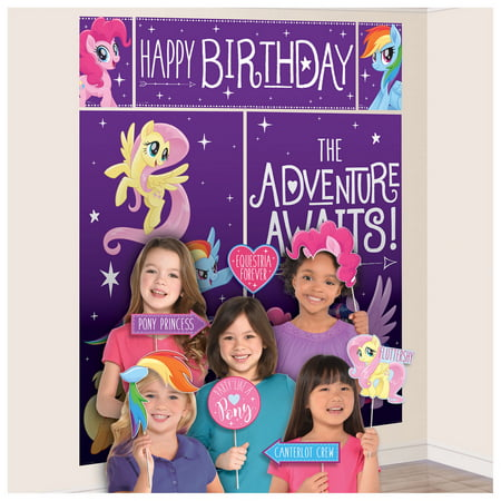 My Little Pony Friendship Adventures Scene Setter Wall Decoration With Photo - Halloween Wall Scene Setters