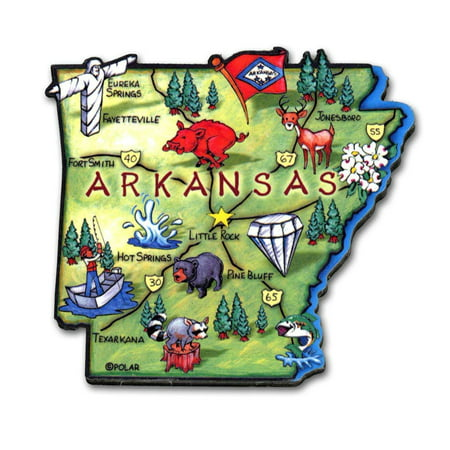 Arkansas the Diamond State Artwood Jumbo Fridge Magnet