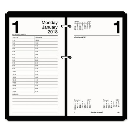 At A Glance Large Desk Calendar Refill 4 1 2 X 8 White 2018