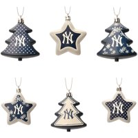 3408501538ea5 Product Image New York Yankees Six-Pack Shatterproof Tree And Star Ornament  Set - No Size