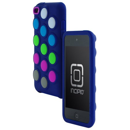 Itouch Silicone (Dotties Silicone Case for iTouch 4, Navy Blue)