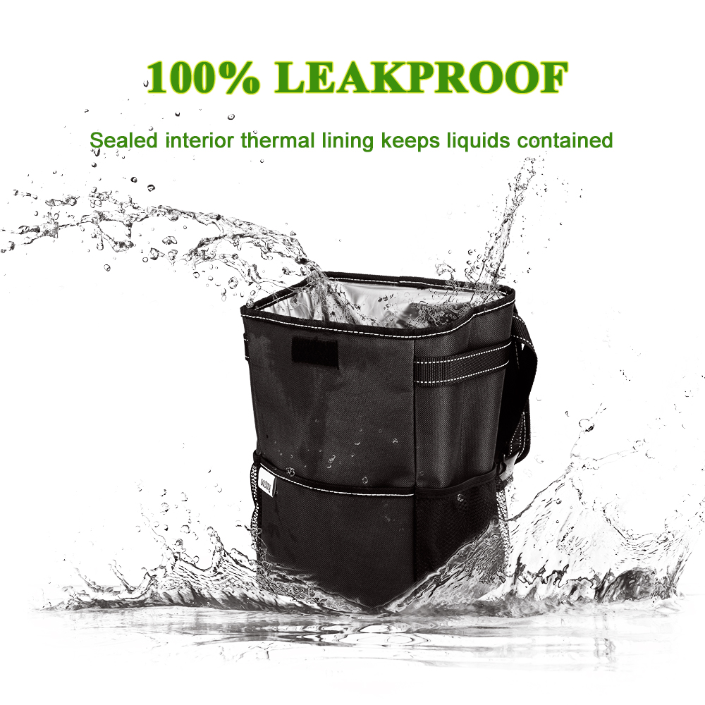 Car Trash Can Waterproof Auto Garbage Portable Storage Bag Hanging With Lid Compatible All Kinds Of Cars