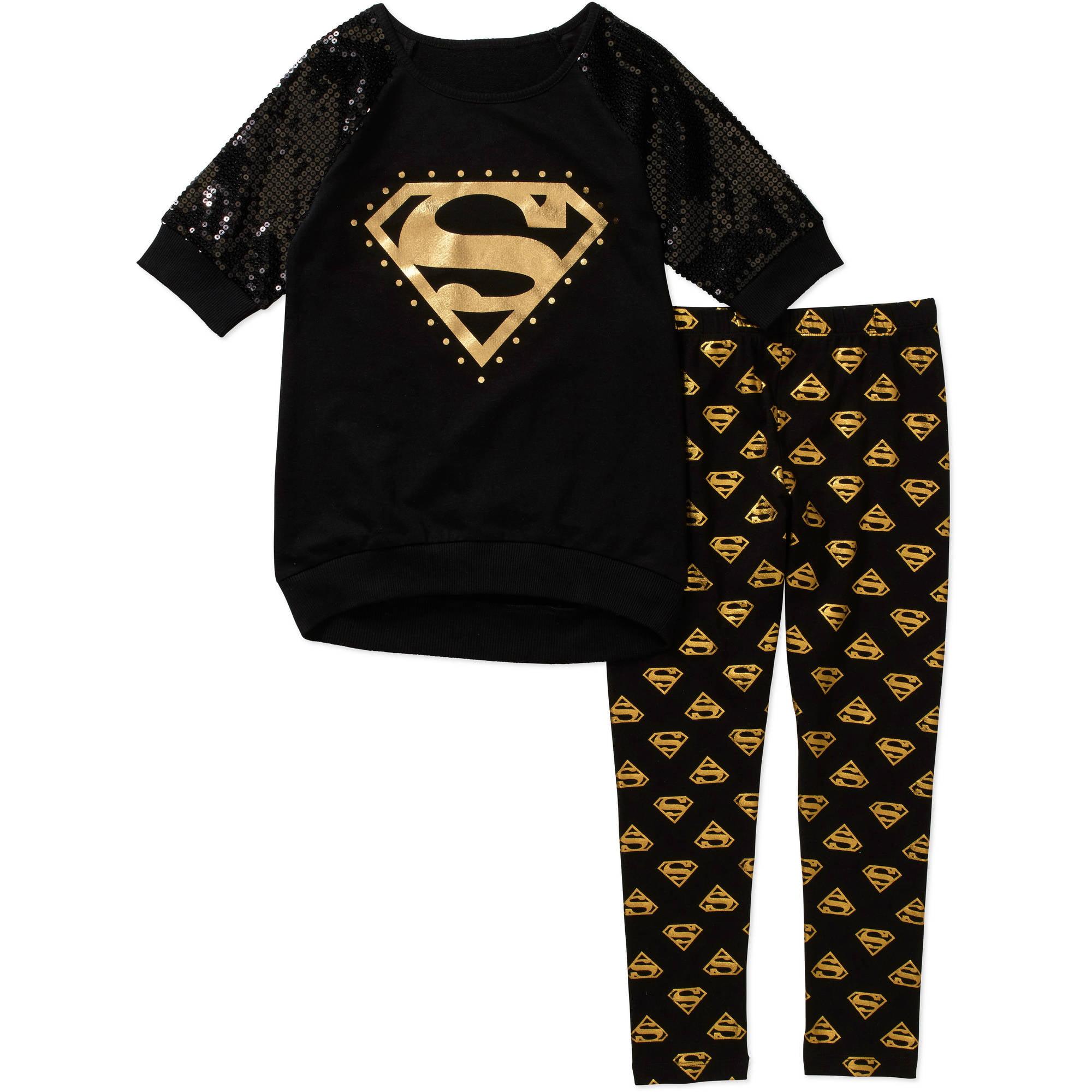 Supergirl Girls' Sweatshirt Legging Set