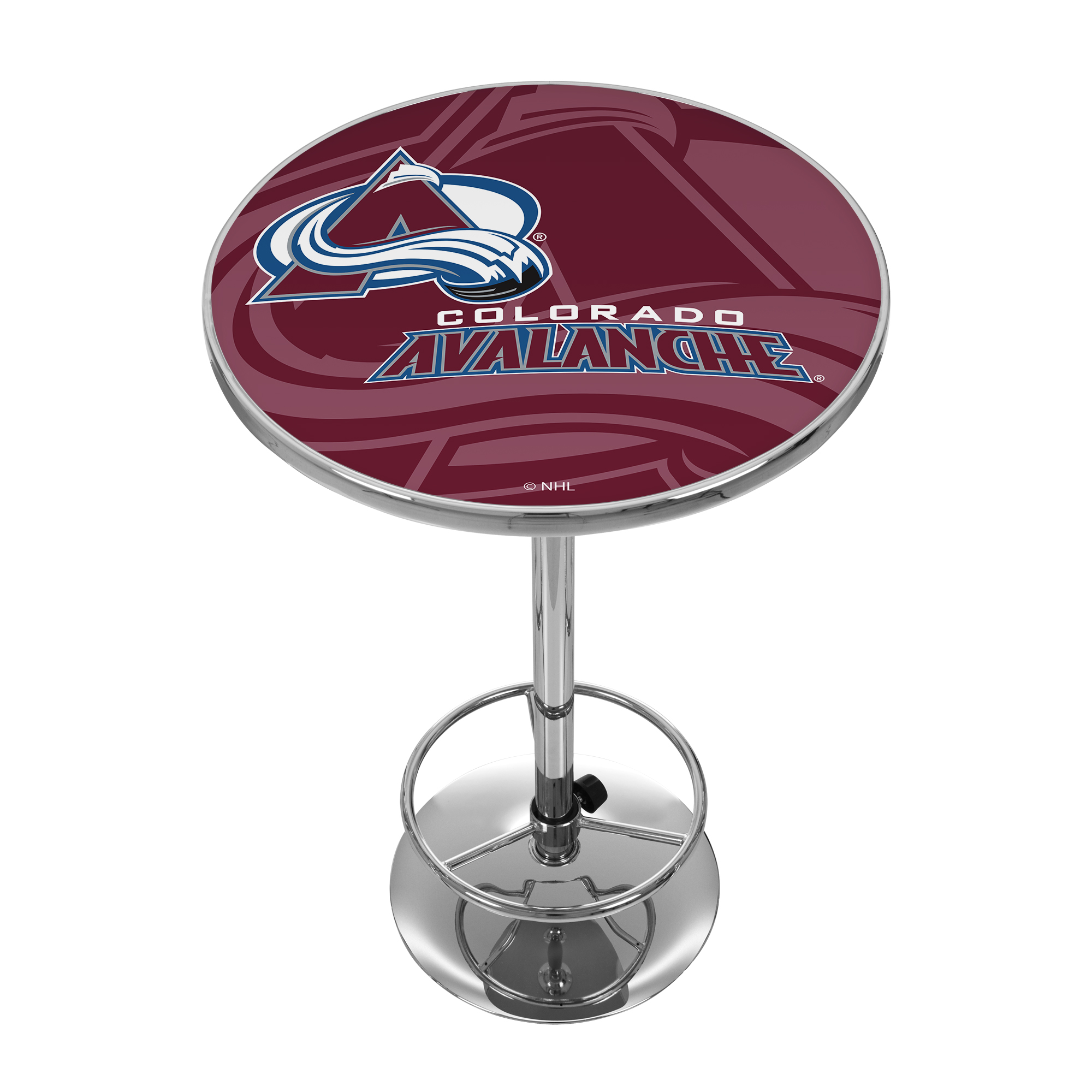 NHL Chrome Pub Table - Watermark - Colorado Avalanche