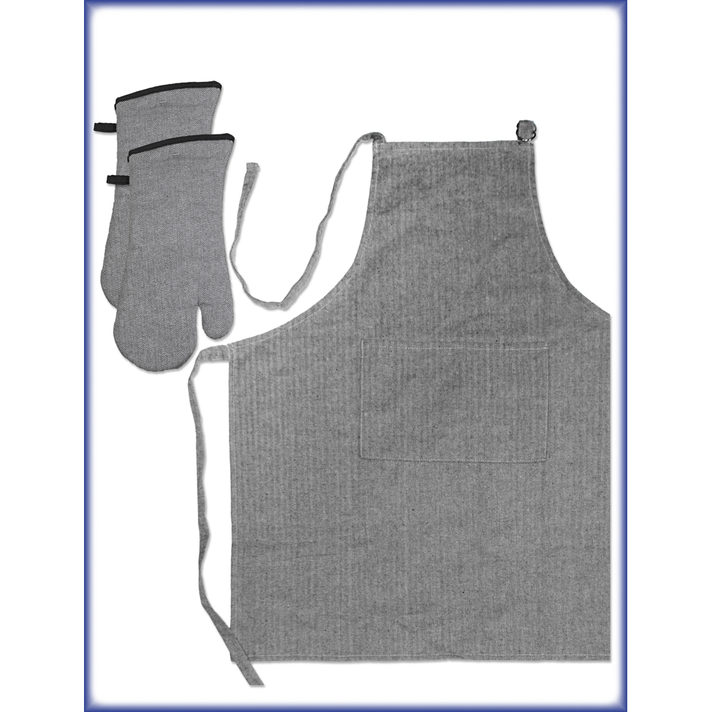 Gourmet Pro 3 Piece Oven Mitt and Apron Set, Multiple Colors Available