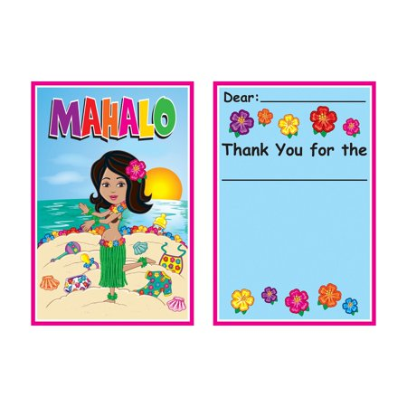 - Club Pack of 96 Multi Colored Hula Baby Thank You Notes 5.5