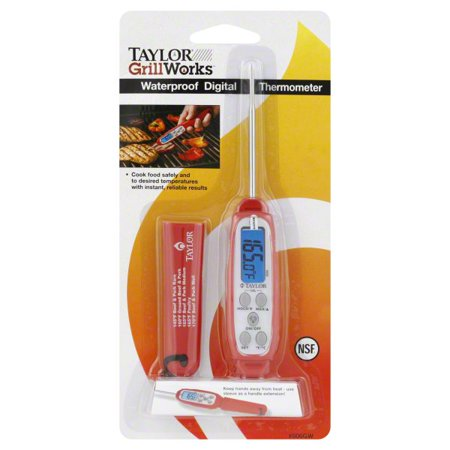 1 Digital Thermometer (Taylor Grill Works Waterproof Digital Thermometer, 1 thermometer)