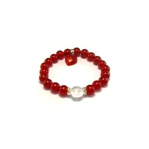 CET Domain 2C070054 Natural Red Agate Crystal Bracelet- 10 mm