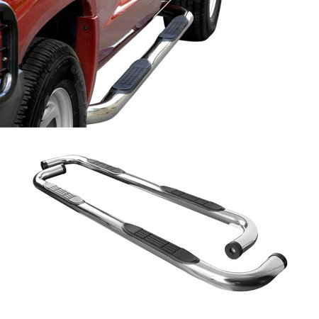 Yosoo Straight Oval Nerf Bar Running Board 2000-2010 for Chevy Suburban 1/2  TON 3inch for Car Vehicle Accessories
