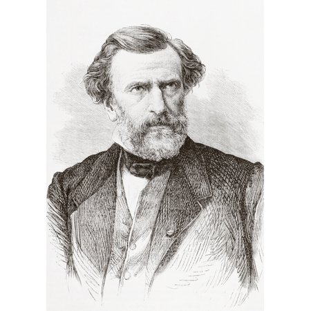 Charles Louis Ambroise Thomas 1811 - 1896 French Composer From Lunivers Illustre Published In Paris In 1868 Canvas Art - Ken Welsh Design Pics (11 x 16)