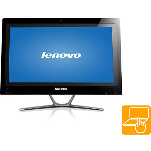 "Lenovo C540 All-in-One Desktop PC with Intel Pentium Dual-Core G2030 Processor, 4GB Memory, 23"" Monitor, 1TB Hard Drive, Touchscreen and Windows 8"