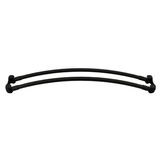 7110D 36 BL Double Curved Shower Curtain Rod Black