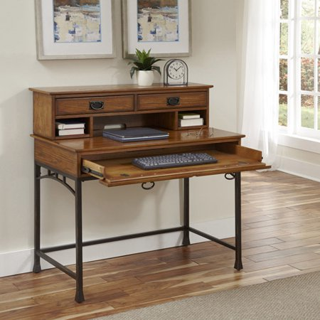 Home styles modern craftsman student desk and hutch for Modern living room hutch