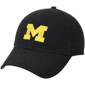 122b305cd04 Men s Navy Michigan Wolverines Team Logo Basic Adjustable Hat - OSFA