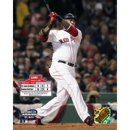 - 2004 World Series Game 1 - David Ortiz hits a first inning two run HR Photo Print