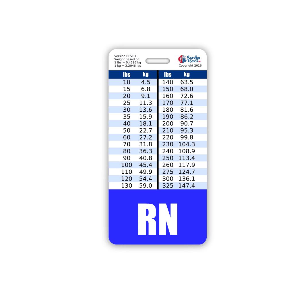 RN Badge Buddy Vertical Blue