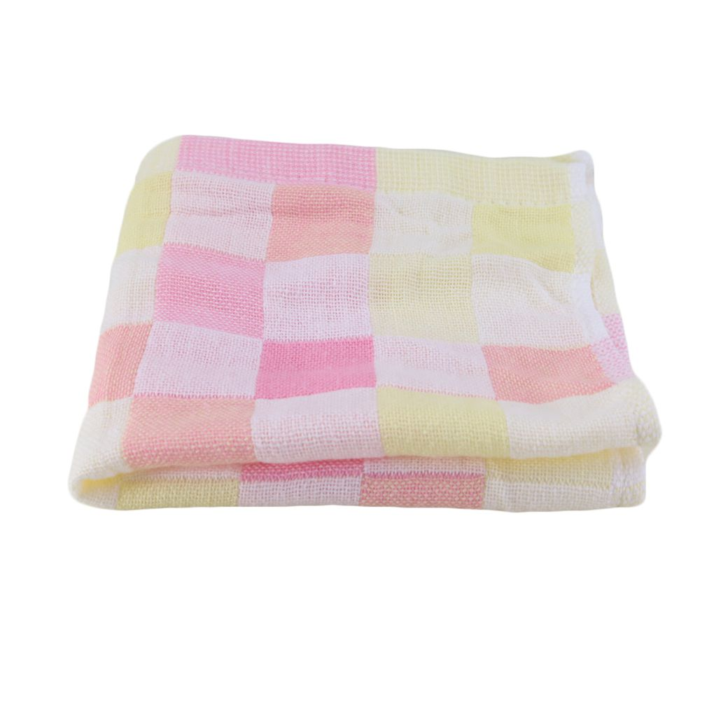 towel for kids toddler 2828cm square towels cotton gauze plaid towel kids bibs daily use hand face