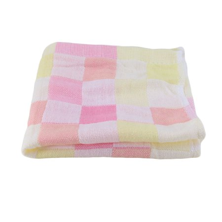 28 28cm square towels cotton gauze plaid towel kids bibs daily use