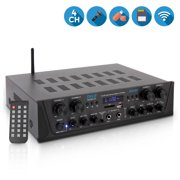 Best Bluetooth Audio Receivers - PYLE PTA44BT - Bluetooth Home Audio Amplifier, 4-Ch Review